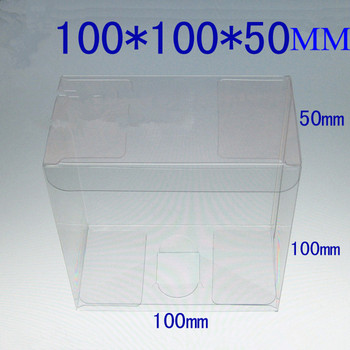 Free shipping 50pcs 10*10*5cm Spot PVC clear plastic box /Box used to display food,toy,car models etc