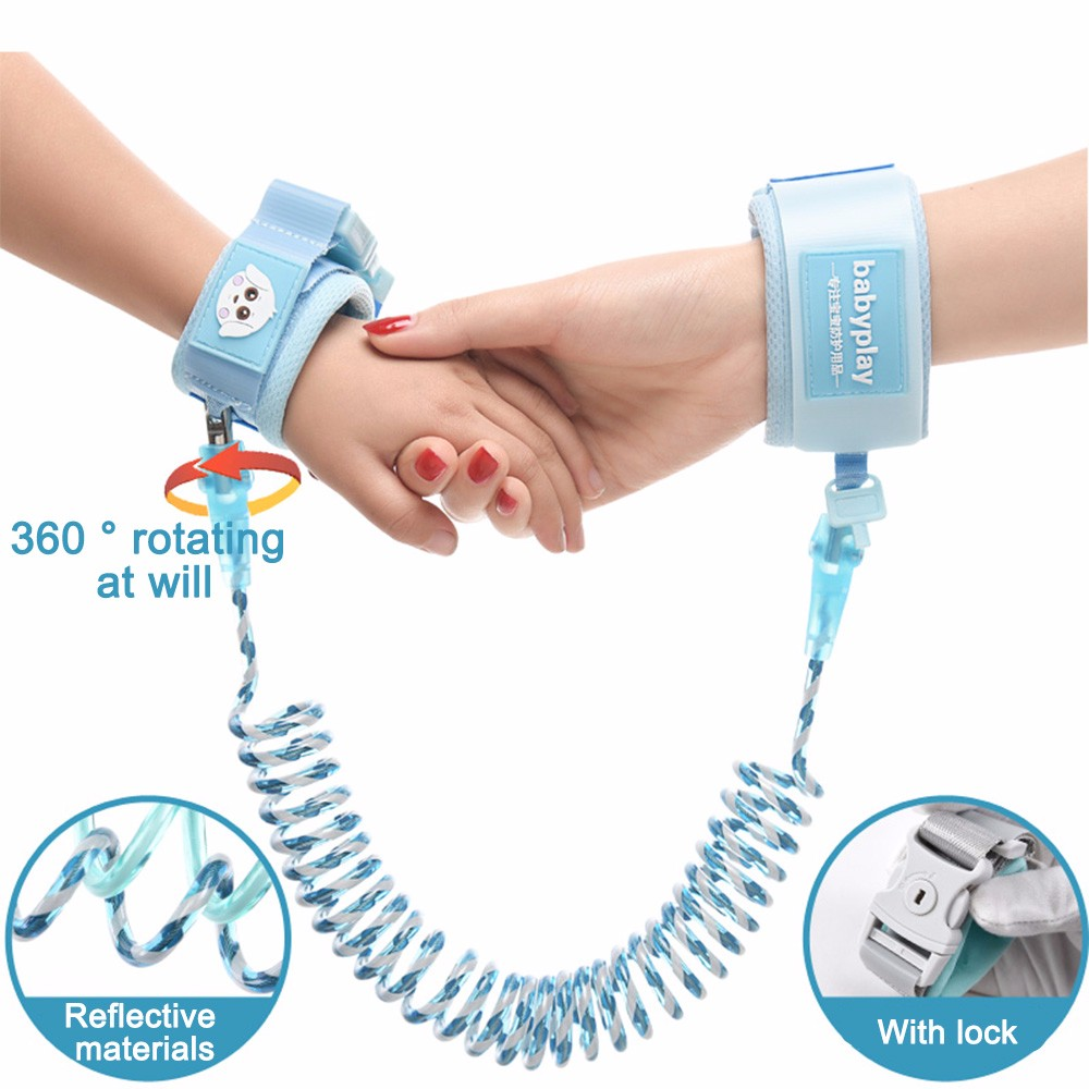 Upgrade Luminous Anti Lost Anti-lost Rope Safety Harness Baby Strap Outdoor Walking Hand Belt Comfortable Anti Lost Wrist Belt