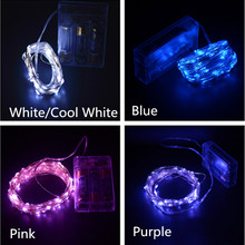 100LED Battery Operated Silver LED String