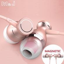 Magnetic In-Ear Earphone With Mic Headset