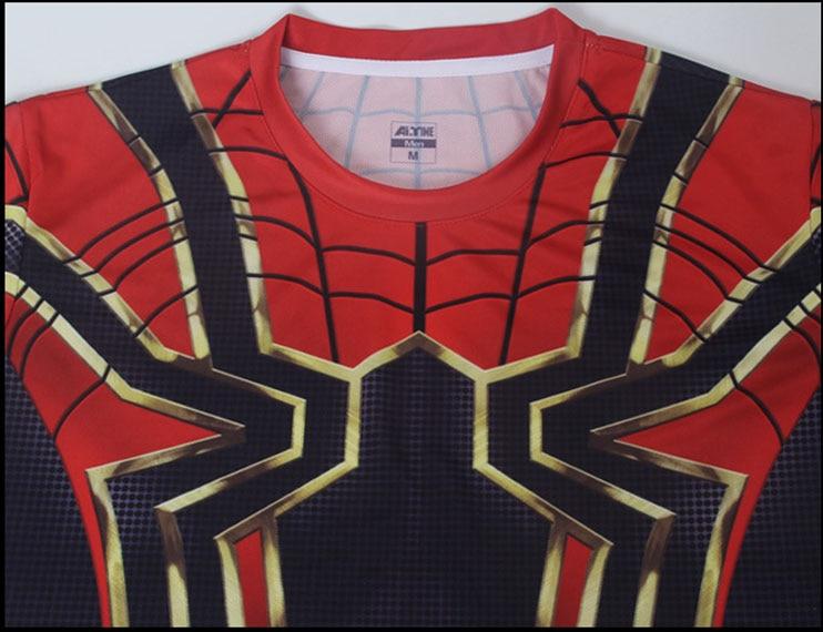 4eb961ea7 2018 Infinity War Spiderman T-Shirts Cosplay Avengers 3 Superhero Sports T-Shirt  Shirts