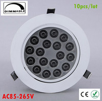 10X Dimmable Led Downlight Light COB Ceiling Spot Light 30w 36w 85 265V Ceiling Recessed Lights