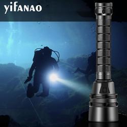 10000лм 100% Профессиональный Дайвинг фонарик 5 * L2 подводное погружение факел 200 м подводный водонепроницаемый тактический T6 фонарь 18650 лампа