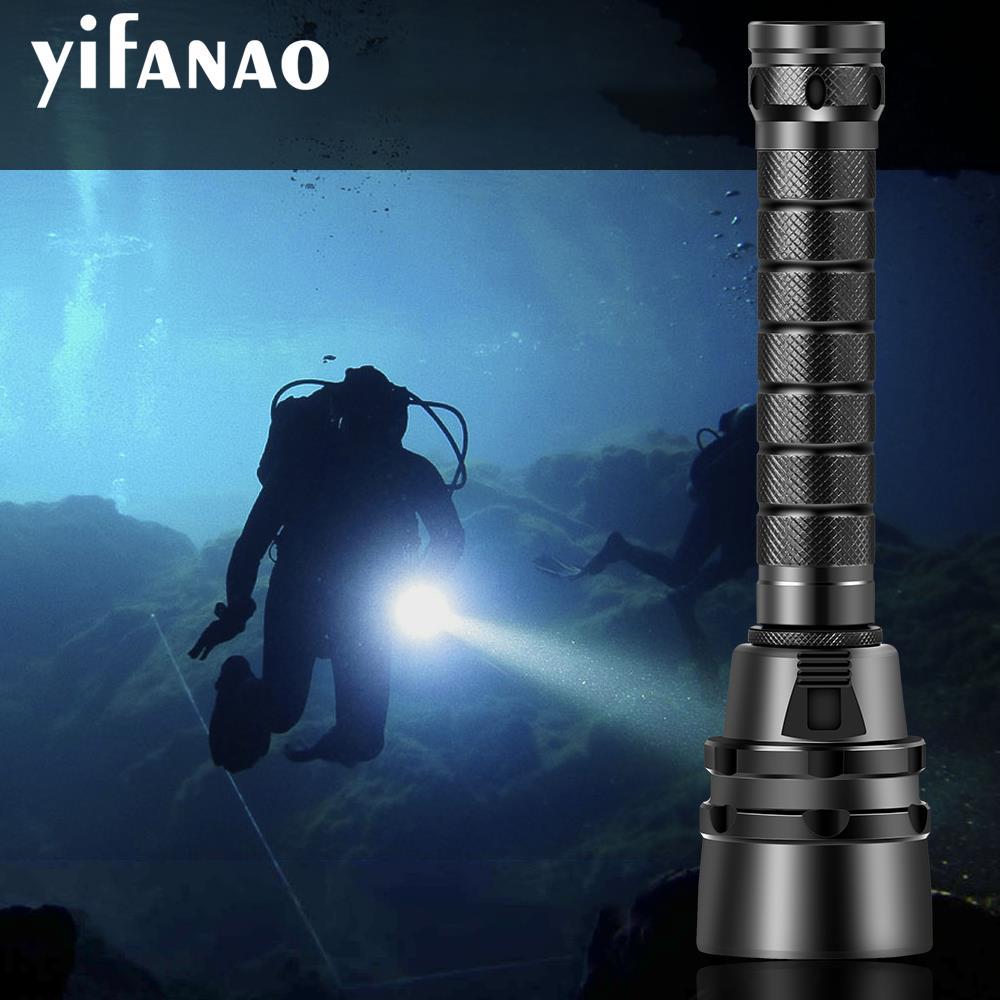 3000Lms 100% Professional Diving Flashlight Torch 5*L2 Scuba Dive Torch 200M Underwater Waterproof Tactical LED Lantern Lamp