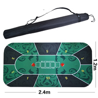 Big size 2.4*1.2m Texas Hold'em Poker Mat flower pattern rubber gaming pad