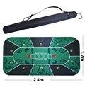 Grande tamanho 2.4*1.2 m Tapete de Texas Hold'em Poker padrão de flor jogo do rato de borracha pad