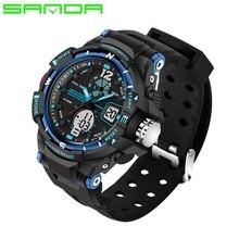 SANDA Brand Children Sports Watches Kids LED Electronic Quartz Watch Boy Girl Student Multifunctional Digital Wristwatches