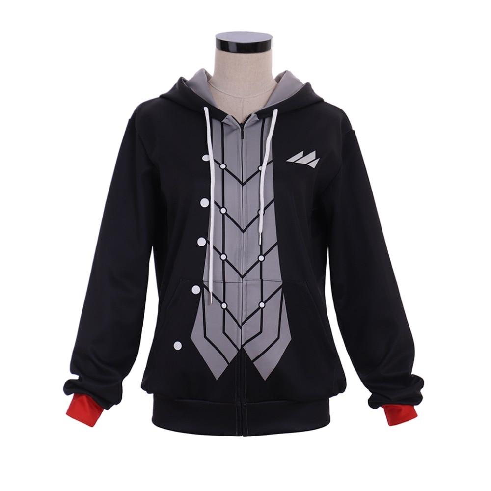 Cosplaydiy Game Persona 5 Akira Kurusu Joker Cosplay Costume Sweatshirt Adult P5 Akira Kurusu Hoodies Zipper Jacket Coat L320