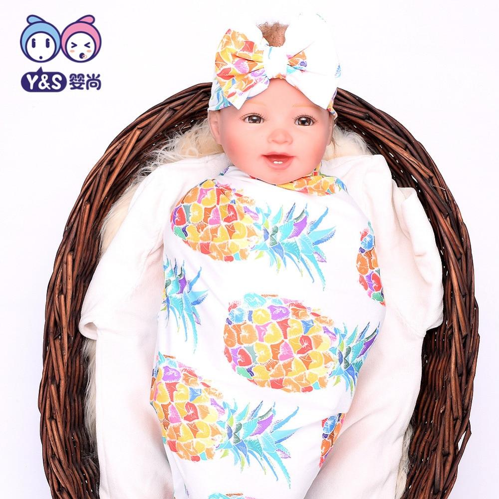 Wisbibi 2pcs / set! Pasgeboren Mode Baby Inbakeren Deken Baby Slapen - Beddegoed - Foto 4