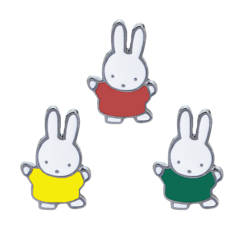 Bunny Hard Enamel Pins Badge Kawaii Accessories Cute Red Green Yellow Rabbit Lapel Pin Brooch Bunny for Life Planner Lovers ...