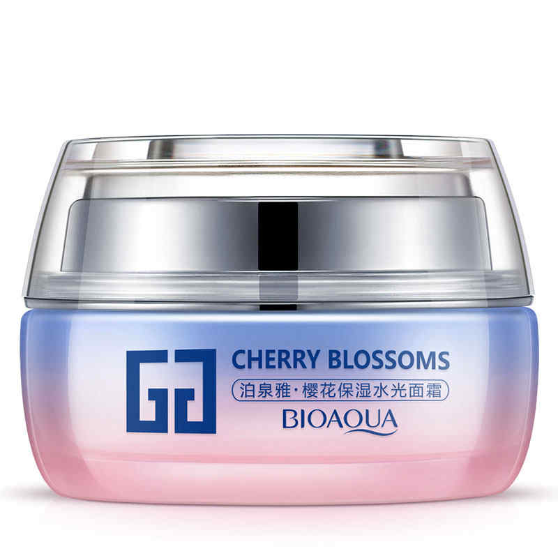 BIOAQUA Skin Care Whitening Moisturizing Face Cream Cherry Blossoms Anti-aging Anti wrinkle Day Cream Face Care bioaqua brand skin care men deep moisturizing oil control face cream hydrating anti aging anti wrinkle whitening day cream 50g