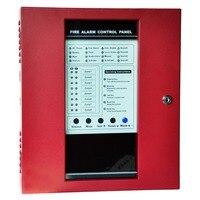 8 зон охранная пожарная сигнализация защита дома безопасная пожарная сигнализация панель управления с детектором
