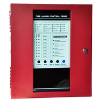 8 Zone Security Fire Alarm System Protect Home Safe Fire Alarm Control Panel With Detector