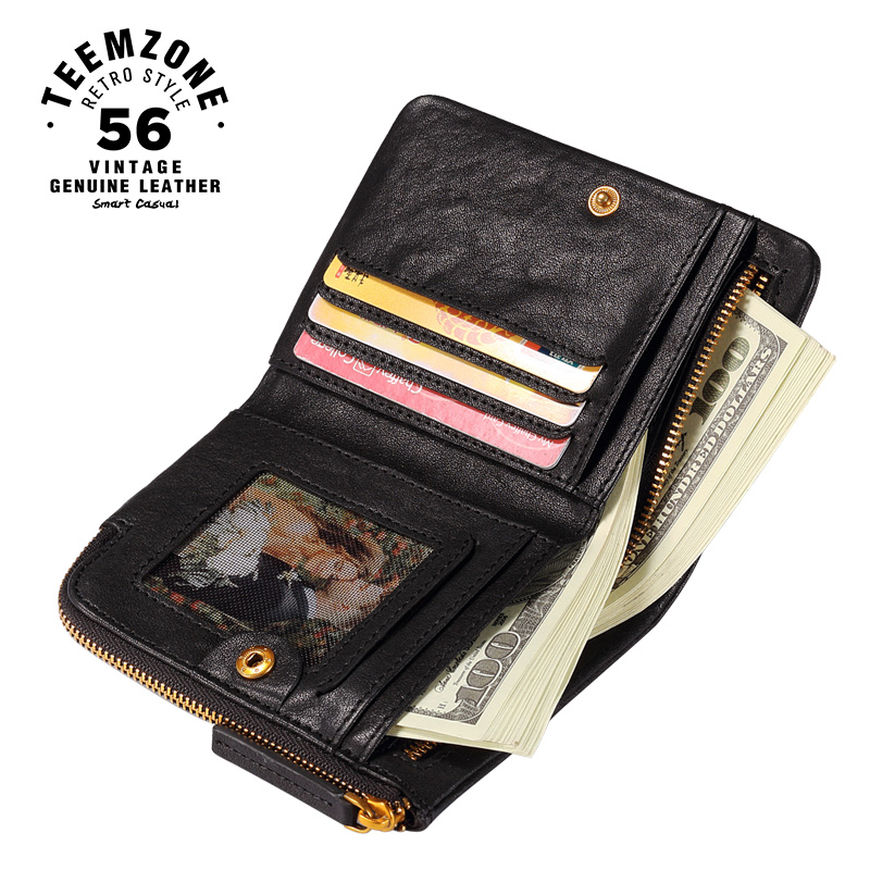 teemzone Top Genuine Leather Men Credit Card Wallet Fashion Famous Credit Case Holder Male Wallets Coin Bags Men's Wallets Q803 hot sale 2015 harrms famous brand men s leather wallet with credit card holder in dollar price and free shipping