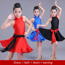 Latin Dance Costumes for Girls Salsa Dance Costume for Kids Ballroom Dresses Tango/ramba Clothes Kids Latin Competition Dresses