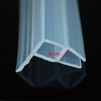3 Meters Shower Glass Door Silicone Rubber Sealing Strip Weather Stripping For 8mm Glass