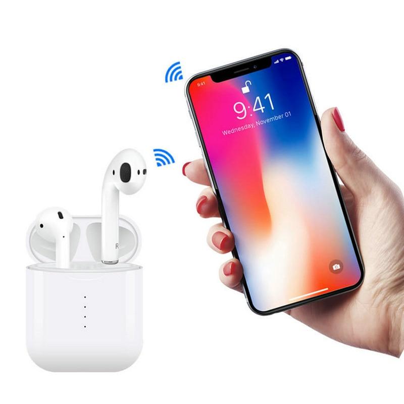 Handsfree Headphone Mini Tws i10 Earphone bluetooth BT 5.0 True Wireless Earbuds 4-5hour music time i10s tws ear air pod headset