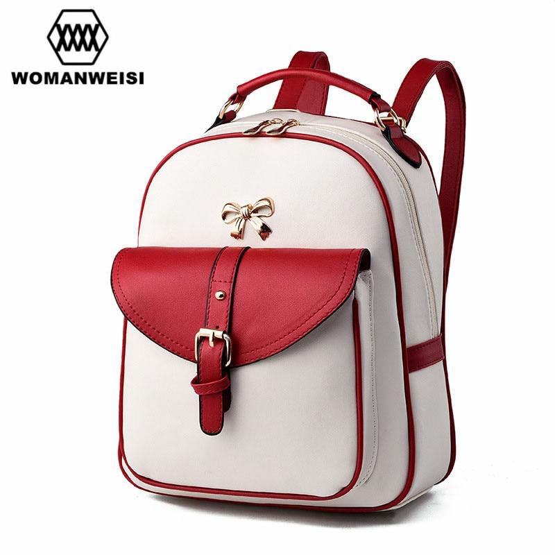 2017 New Design Beautiful Women Backpacks Fashion PU Leather Female Bagpack Backpacks For Teenage Girls Mochila School Bags paul volcker a senseless panic how washington failed america