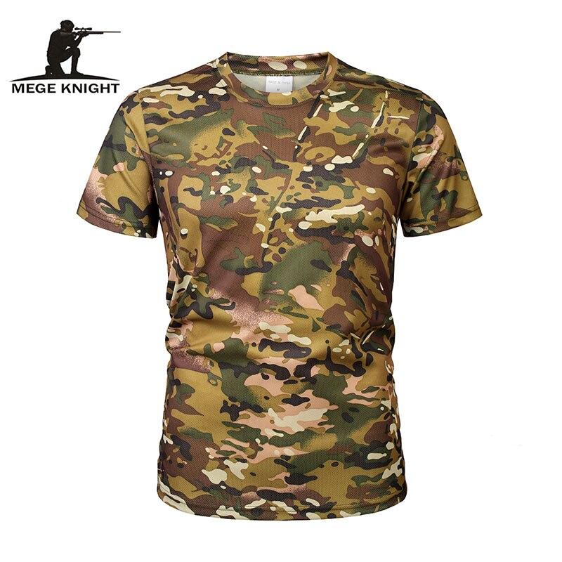 Мужская рубашка MEGE, камуфляжная, быстросохнущая, дышащая, с коротким рукавом Футболки      АлиЭкспресс