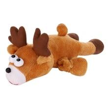 Pet Dogs Chew Toys Christmas Elk Christmas Tree Pendants Finger Elastic Toys