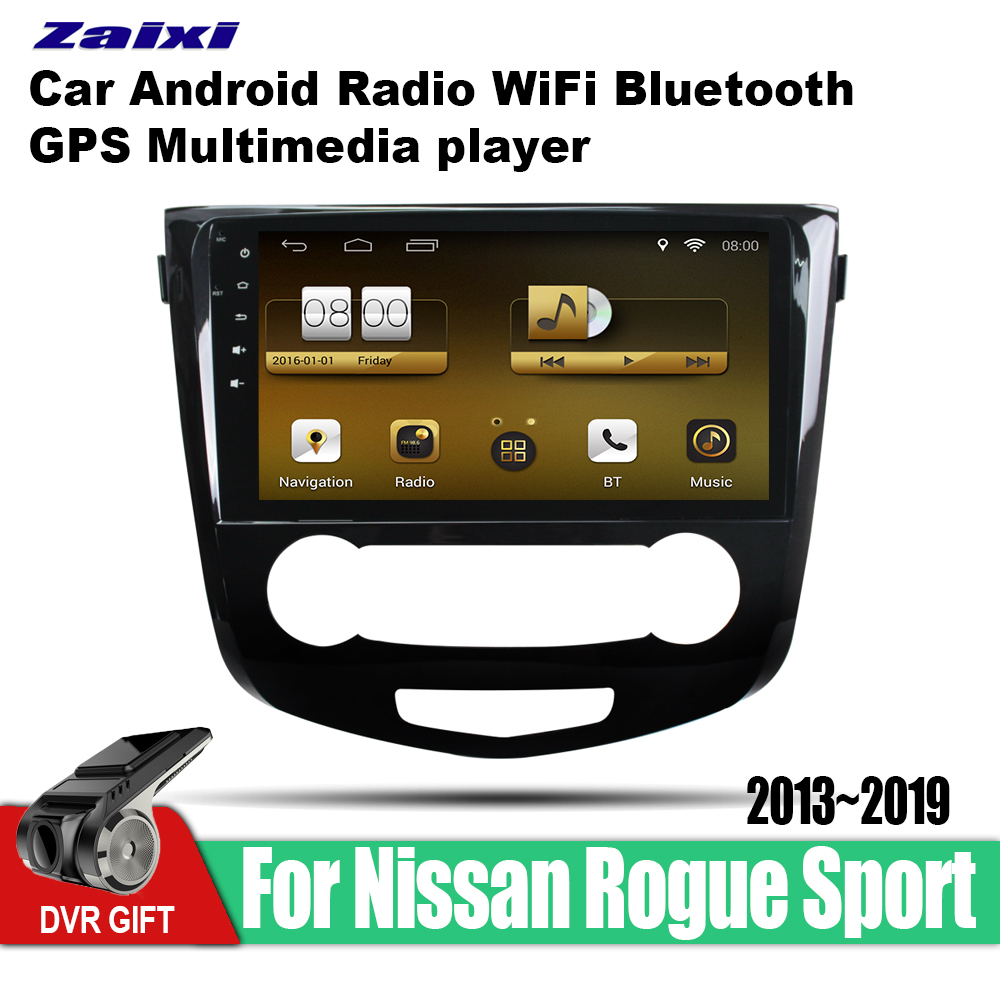 ZaiXi car gps multimedia player For Nissan Rogue Sport 2013 2019 car Android navigation raido video audio player stereo audio in Car Multimedia Player from Automobiles Motorcycles