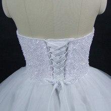 QQ Lover 2017 New Elegant Beaded Ball Gown Wedding Dress Custom-made Plus Size Vestido De Noiva