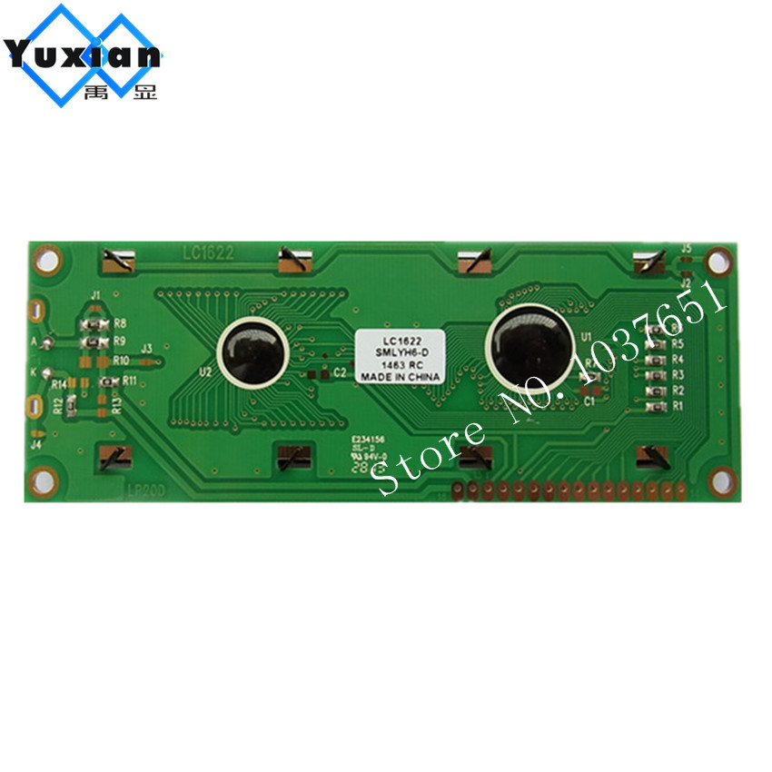 large big character 1602 1602G 16x2 lcd display green Screen lcd module LCM LC1622SMLYH6-D high quality