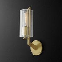 Retro Luxury American RH E14 Led Wall Lamp For Living Room Lustre Copper Sconce Lighting Indoor Lighting Luminarias Lamparas