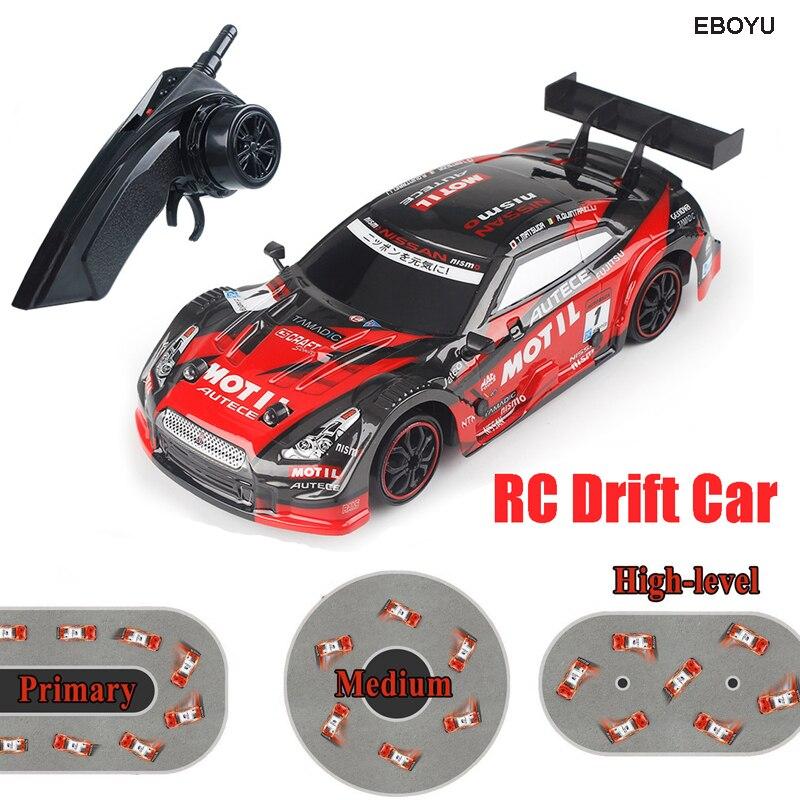 Eboyu RC18 RC автомобиль супер GT RC Гонки Дрифт автомобиль 1:16 дистанционного Управление модуль 4WD машина RTR с дополнительной Drift Шины подарок