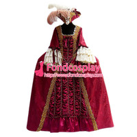 Gothic Lolita Punk Victorian Rococo Medieval Gown Ball Evening Dress Cosplay Costume Tailor made[G952]