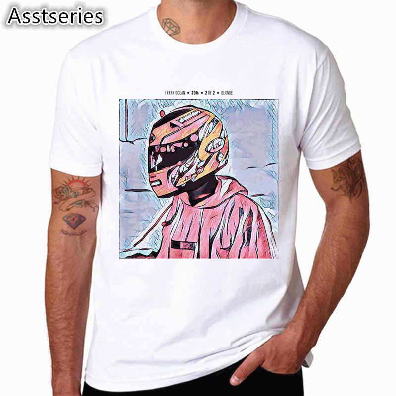 Frank Ocean T-Shirt blond hommes lettre impression T-Shirt homme blanc graphique manches courtes T-Shirt top T-shirts pour homme HCP4544