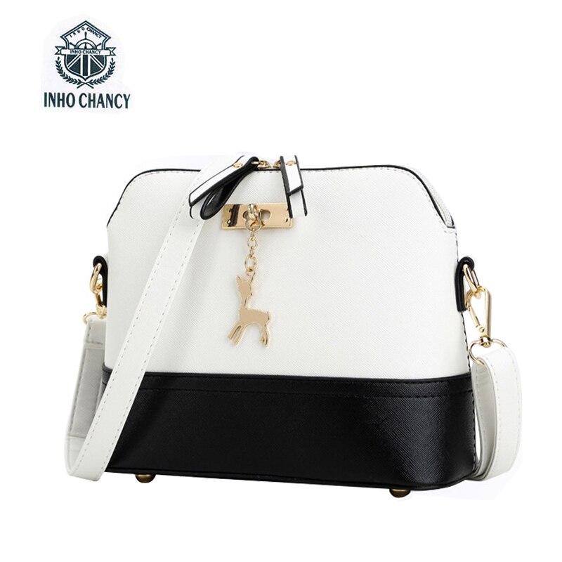 Inho рискованным! Роскошные олень игрушки Shell Форма сумка кожа женщины сумки известных брендов дизайнерские женские сумки через плечо мини-су...