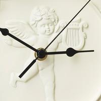 Large Angel Creative Resin Wall Clock Art Craft Wall Watch Circular Living Room Decor Hars Modern Clocks Decorative Tool 50A0904