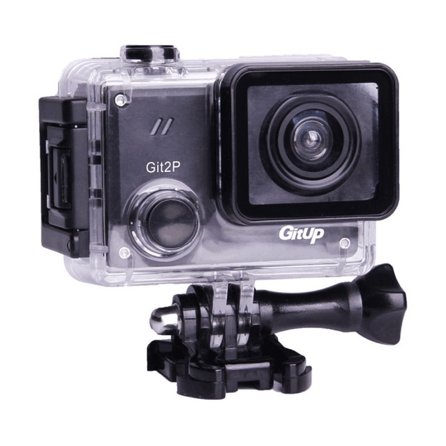 GitUP Git2P 90도 렌즈 액션 카메라 2K 와이파이 스포츠 DV 풀 HD 1080P 30m 방수 미니 캠코더 1.5 인치 Novatek 96660