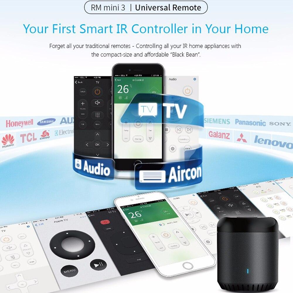 Tüketici Elektroniği'ten Ev Otomasyonu Modülleri'de Broadlink evrensel akıllı kontrol cihazı AC Hub akıllı ev için RM Mini3 WiFi IR 4G ses uzaktan kumanda Alexa Google ev title=