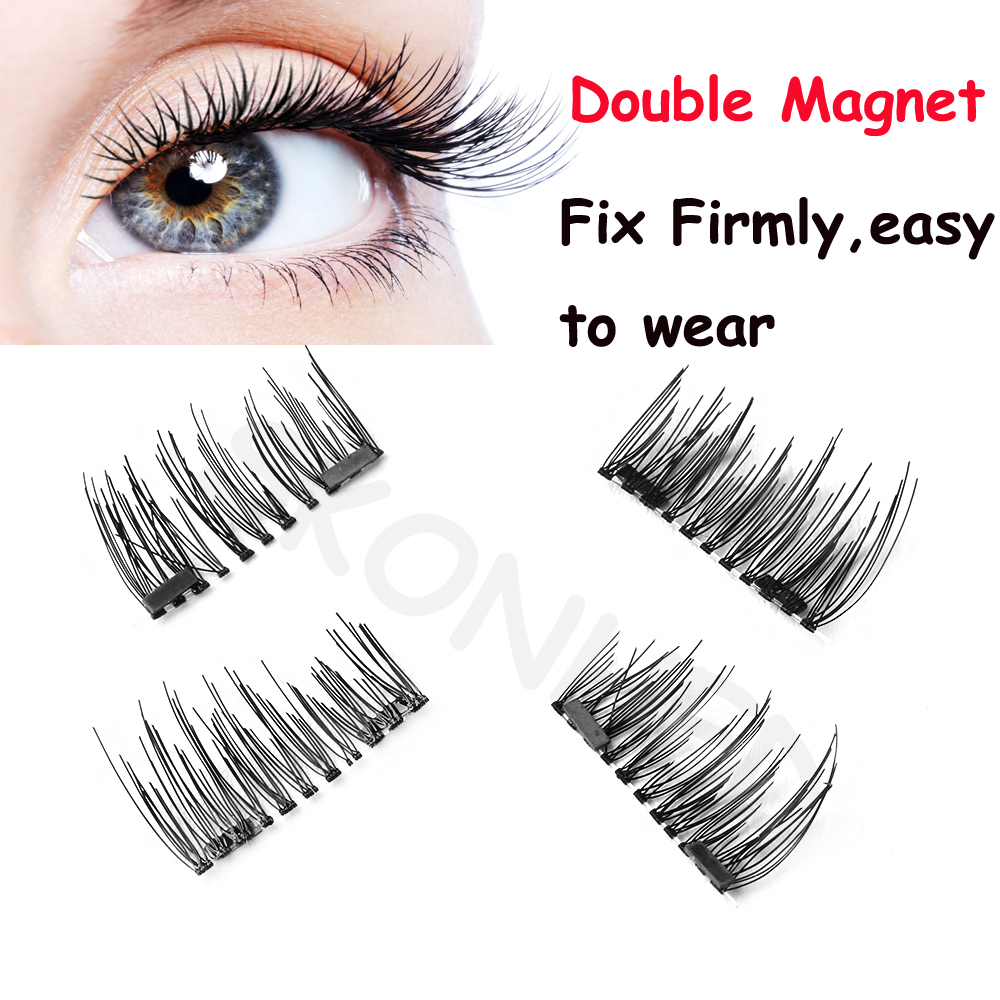 1c2928e1cba Detail Feedback Questions about SKONHED New Stylish Charming 4 Pcs Lashes/Set  Triple Magnet False Eyelashes Extension Tools Natural Full Strips Lashes No  ...