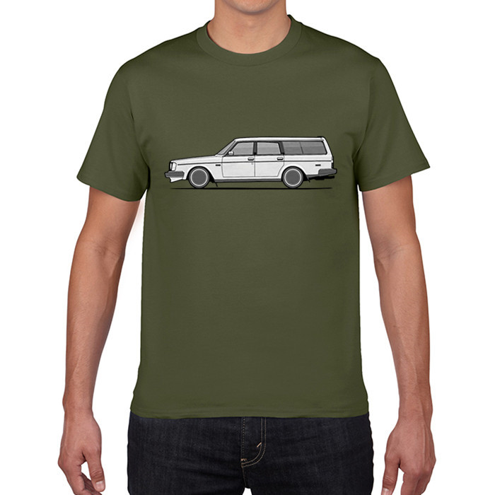GILDAN T Shirts Brick Volvo 245 Wagon Car T-Shirt Male Organnic Cotton Man Short Sleeve Shirt Simple Style Man Unique T Shirt