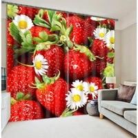 Fresh strawberry grapes 3D Blackout Curtains Healthy non pollution Digital Print Customiz Design Tablecloth Shower Curtain