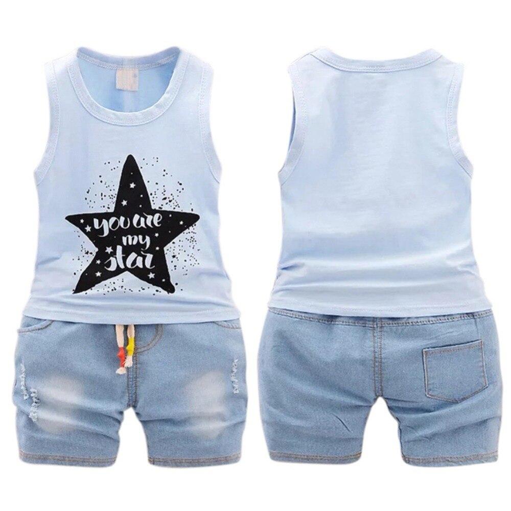 2PCS Toddler Baby Boys Suits tops//shortsSet Kids Clothes Outfits 2 Color