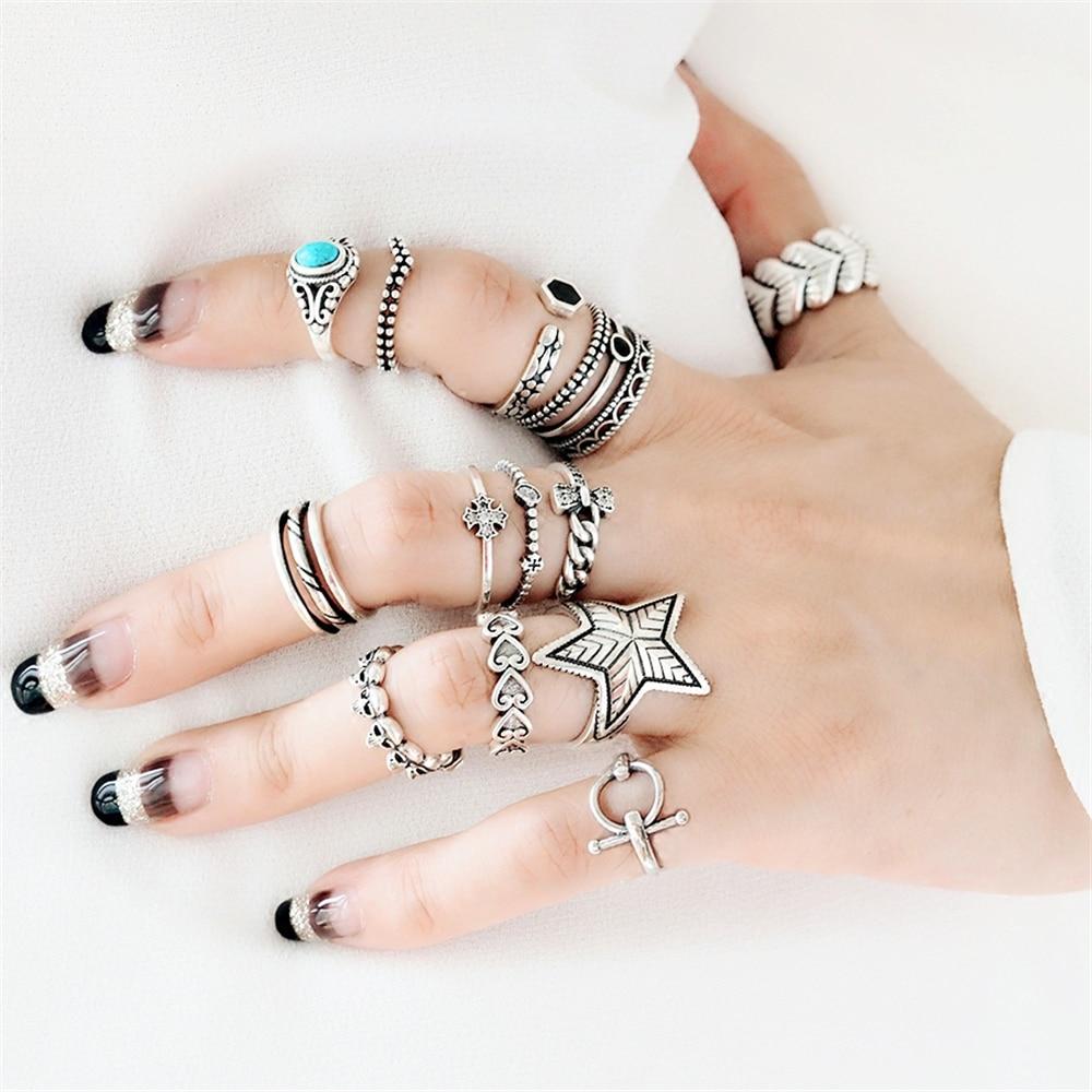 Punk Knuckle Ring Real 925 Silver Boho Jewelry Vintage Minimalism Joyas Haut Femme Bague Femme Aneis Rings for Women Anillos кольцо valen bela 925 aneis anillos feminino jz5020