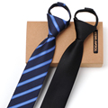 2017 New Arrivals 6CM Slim Ties for Men Fashion Simple Zipper Tie Men Necktie Men Business Tie Gravata Easy to Pull Gift Box
