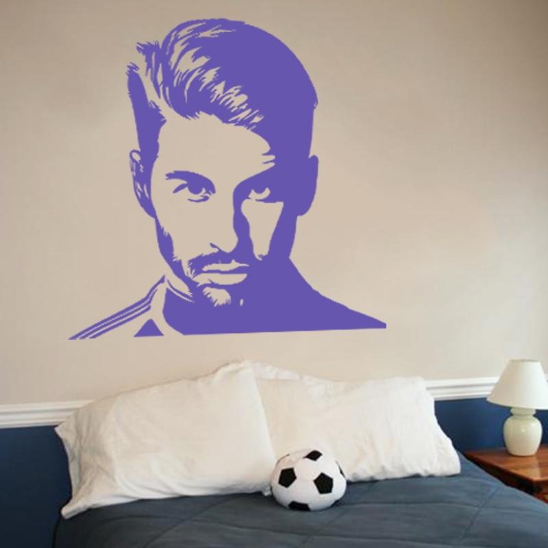İncəsənət dizaynı ucuz vinil ev bəzək futbolu Sergio Ramos - Ev dekoru - Fotoqrafiya 3