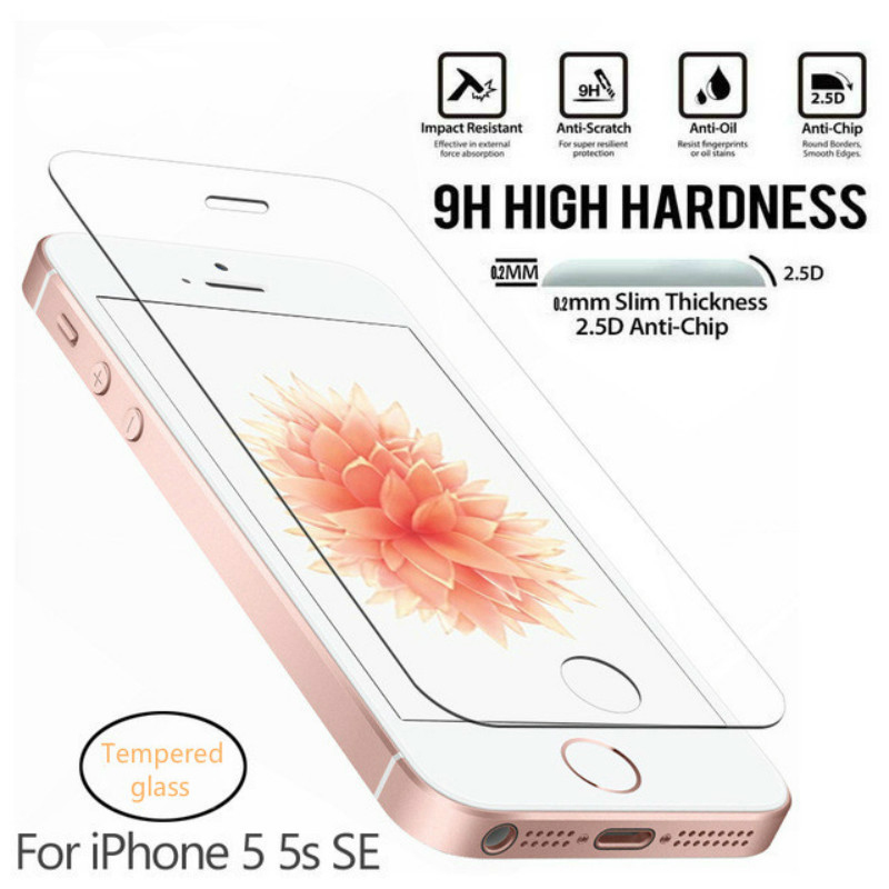 0.26mm 2.5d Protective Glass For Iphone 5s Tempered Glass For Iphone 5 Se Screen Protector On Tempered Glass Film 9h Hd At All Costs