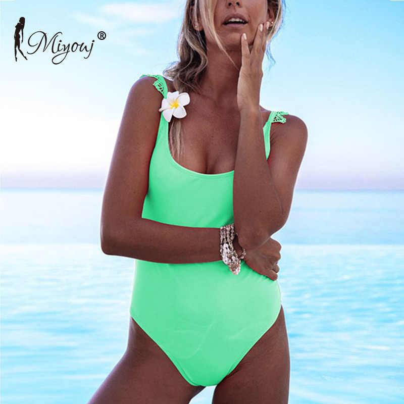 Miyouj сексуальный кружевной цельный купальник женский купальник Бразильский бикини пуш-ап Biquinis Feminino 2018 Монокини Mujer цельный костюм