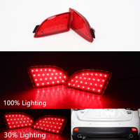 2 Pcs Back Turning Light LED Rear Bumper Reflector Brake Stop Light For For Mazda 3