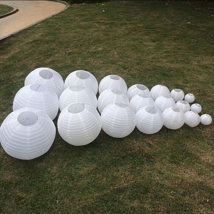 10 unids/lote 6 pulgadas 15 cm blanco bola colgante de papel fuentes del partido