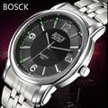 2016 Relógios de luxo homens marca BOSCK quartz relógio de homens de aço cheio relógios de pulso dive 30 m relógio do esporte Da Moda Novo relogio masculino