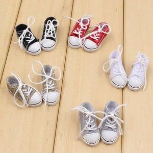 Image 1 - Blyth boneca sapatos de tecido com cinco diferentes cores para adequado para 1/6 do órgão CONJUNTO