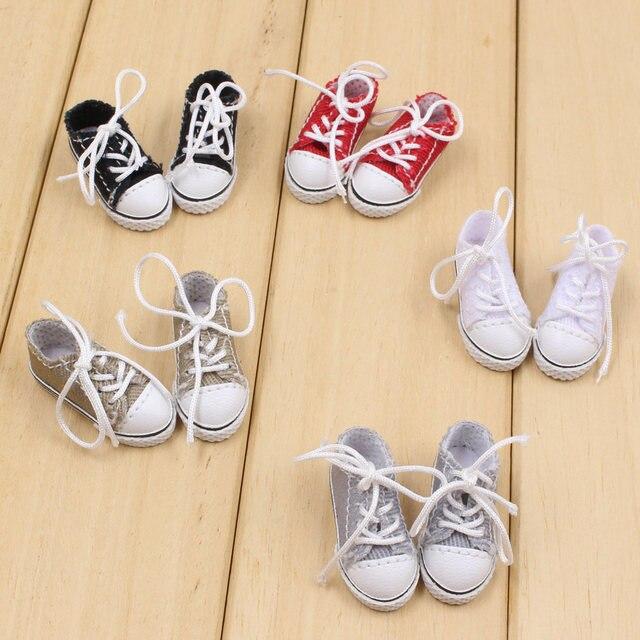 Blyth boneca sapatos de tecido com cinco diferentes cores para adequado para 1/6 do órgão CONJUNTO