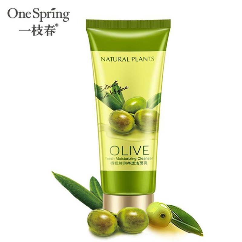 OneSpring оливковое очищающее средство для лица, богатый вспенивающий Очищающий увлажняющий контроль масла, очищающее средство для кожи лица